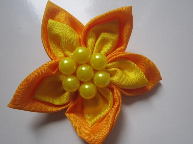 Bros Kain Cantik Bunga Rara Kuning